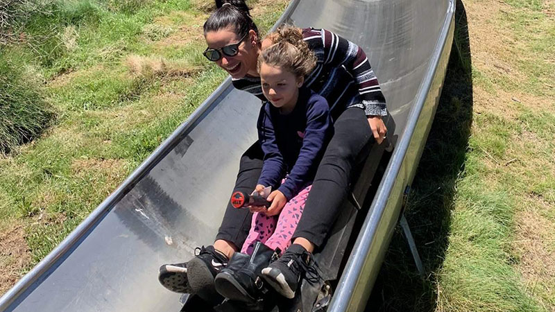 The alpine bobsled in Thredbo