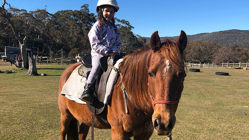 Horse riding near Thredbo