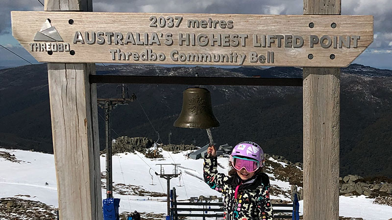 Australia's highest lifted point in Thredbo
