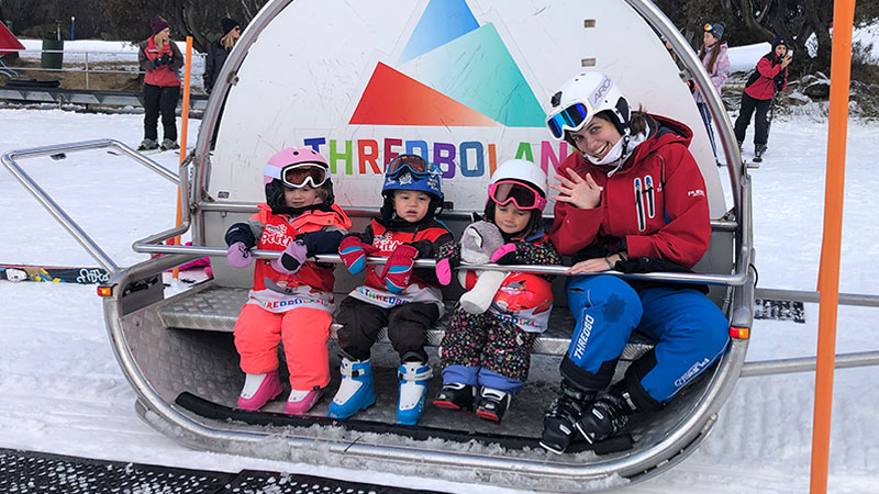 Toddler ski lessons in Thredbo