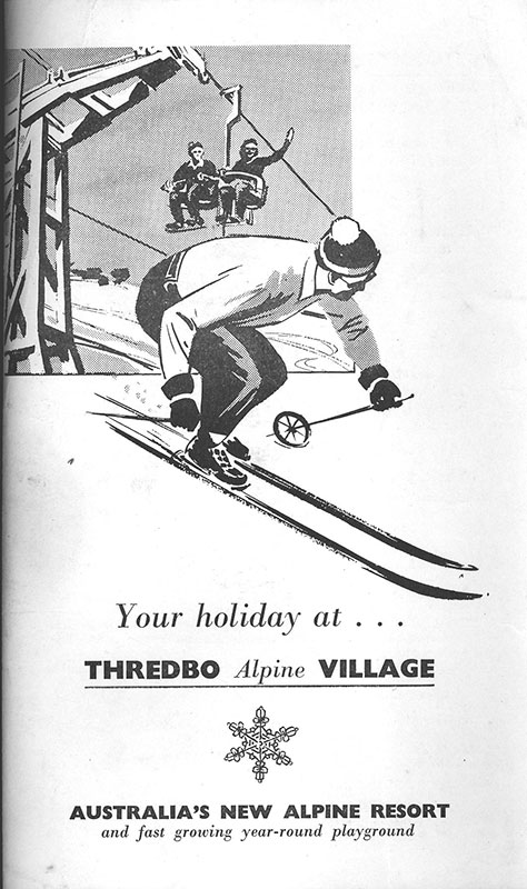 Vintage Thredbo ski resort ad