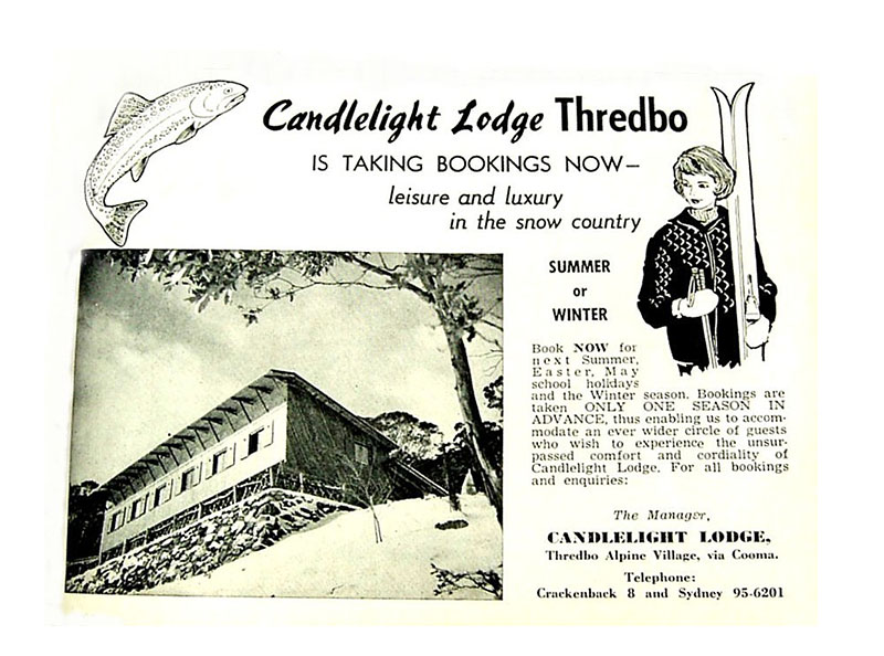Vintage Candlelight Lodge magazine advert