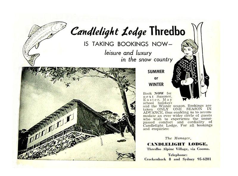 Vintage Candlelight Lodge magazine advert