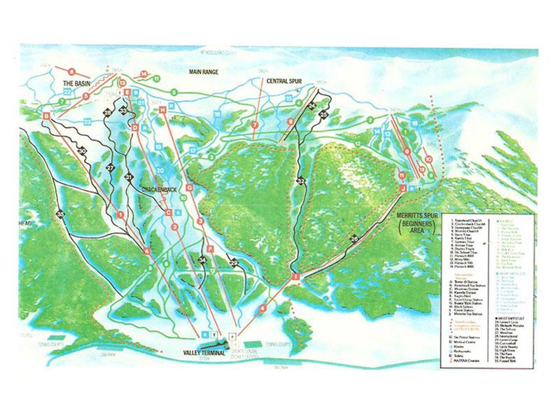 Vintage Thredbo trail map